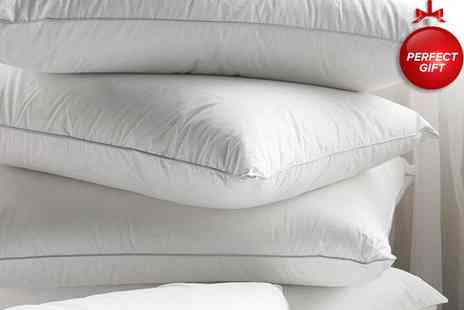 Better Bargains - Nestle your noggin on two duck feather pillows - Save 50%