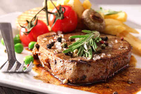 The Brooklands Hotel - 8oz Sirloin Steak with Wine or Beer Each for Two for - Save 55%