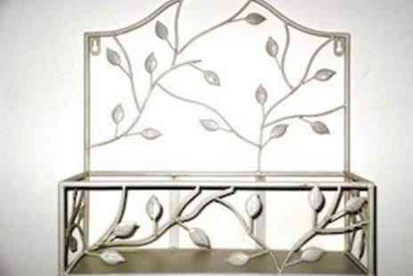 Garden Game - Wrought Iron Wall Shelf - Save 60%