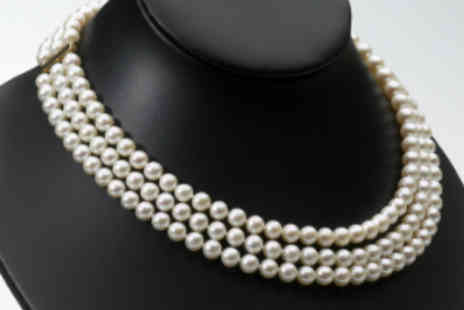 Lyncroft Marketing - Magnificent Imperial Pearl Necklace - Save 50%