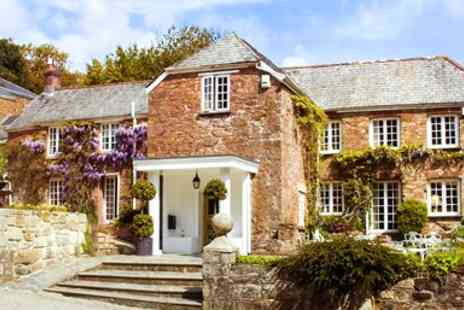 Boscundle Manor Hotel - Overnight accommodation for two with full Cornish breakfast  - Save 40%