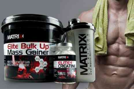 Matrix Nutrition - Matrix Protein Bundle With Powder Creatine Tablets and Shaker - Save 61%
