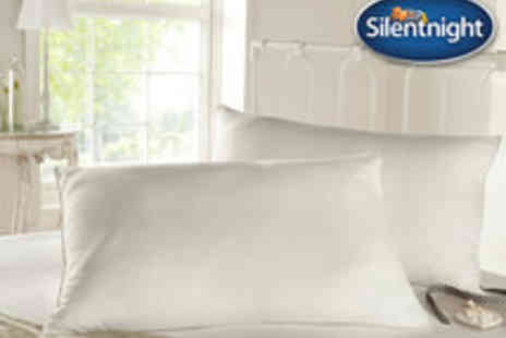 Branded Bedding - Voucher for Two Silentnight Goose Feather and Down Pillows - Save 62%