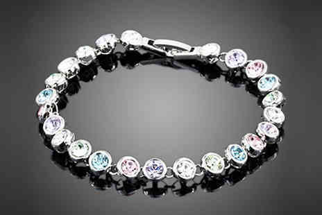 spa shopping limited - Multi coloured crystal bracelet - Save 90%