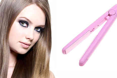spa shopping limited - Mini ceramic hair straightener  - Save 65%