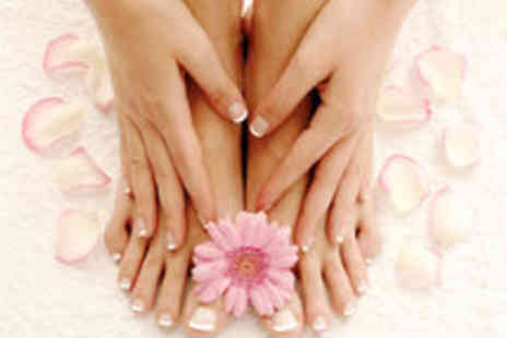 Sanctuary at the Suites - Manicure and Pedicure with Sparkling Wine and Chocolates - Save 58%