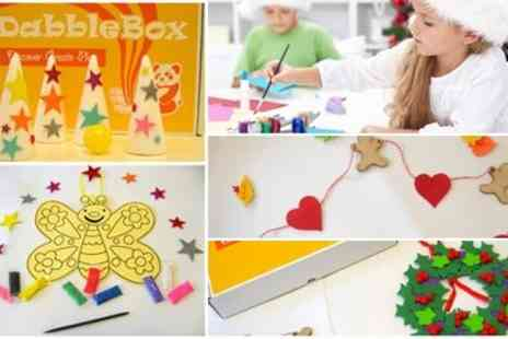 vDabble - Festive Activity Craft Box, Wrapped & Themed for children - Save 50%