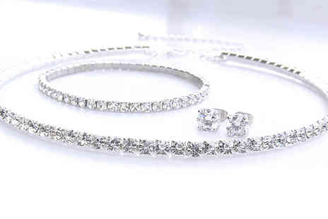 Platinum Bay - Silver plated crystal trio set - Save 84%