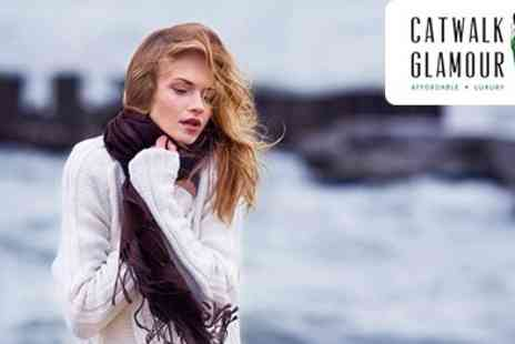 Catwalk Glamour - Pure Cashmere and Silk Pashmina Available in 30 Plus Stunning Colours - Save 49%