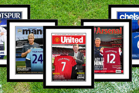 Ur in the Paper - Personalised Framed Sport Magazine Cover - Save 60%