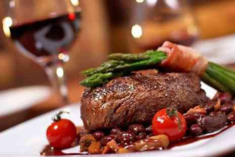 New York Cut Steakhouse - Two Course Meal With Wine For Two - Save 57%