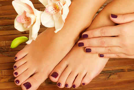 Natures Way - Shellac Manicure and Pedicure for One Person - Save 65%