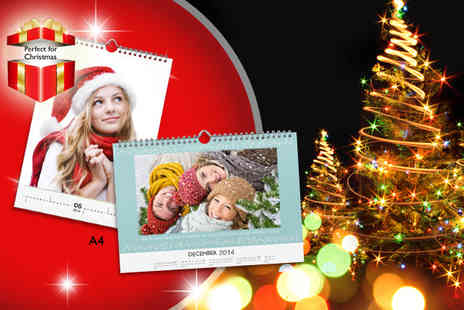 Photoworld - A4 portrait or landscape personalised wall calendar - Save 71%