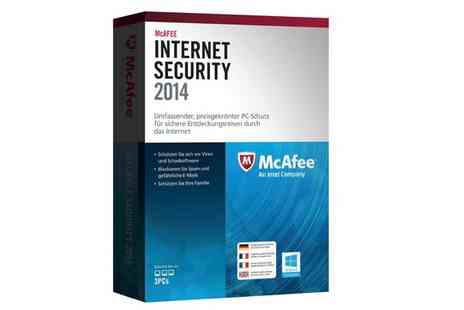 Software 4 All - McAfee 2014 PC Protection Software for three users - Save 63%