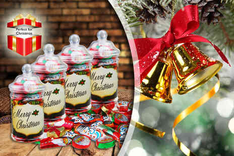 My Sweetie Jar - Four Victorian style Christmas sweet jars - Save 44%