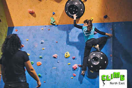 Climb North East - Three Indoor Rock Climbing Classes for One Child - Save 61%