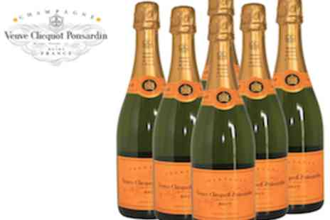 Champagne Charlies - Six Bottles of 75cl Veuve Clicquot Champagne - Save 50%
