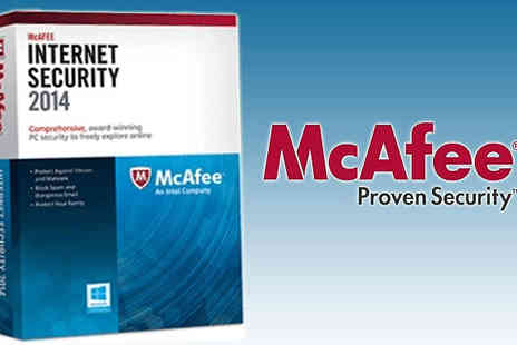 Software Link - One year security with McAfee Internet Security - Save 70%