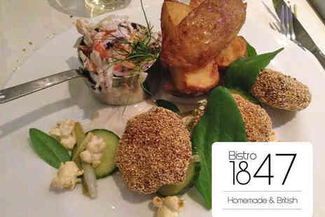 Bistro 1847 - Starter Main Course and Glass of Prosecco Each for Two - Save 55%