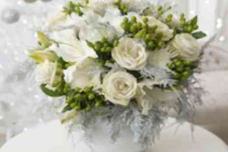Debenhams Flowers -  Luxury Festive Bouquet Velvet Rose OR Spirit - Save 50%