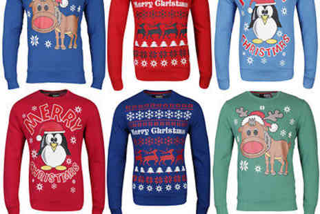 thehut_group_outlet - Merry Xmas Men's Christmas Sweatshirts - Save 56%