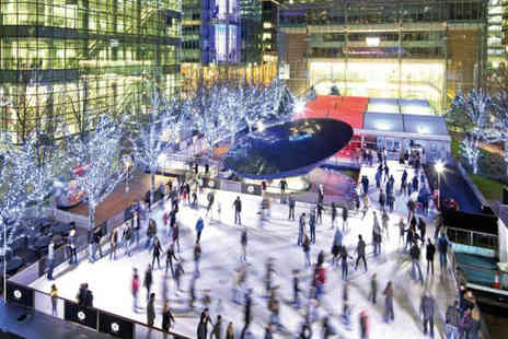 Canary Wharf Ice Rink - Two weekday ice skating tickets for Ice Rink Canary Whar - Save 67%