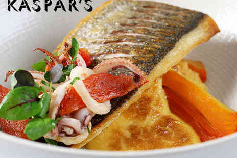 Kaspars Seafood Bar - Two Course Lunch with Glass of Champagne Each for Two - Save 45%