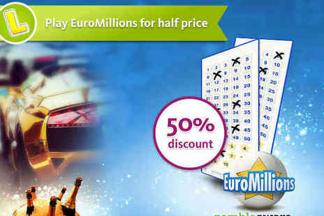 EuroMillions Tickets - EuroMillions lottery ticket for One Week - Save 50%