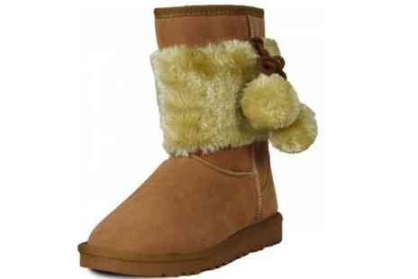 Karma Clothing - Faux Suede Snugg Boots - Save 50%
