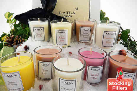 Laila London - Set of Three Luxury Scented Candles - Save 53%