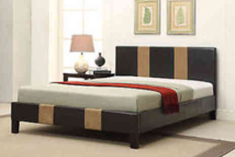 italiandesignerbeds - Bed with Feature Head & Footboard Double & King size, Add Mattress Option - Save 80%