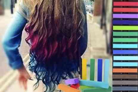 Simply Live - 24 Assorted Coloured Hair Chalks  Perfect For Coloured Streaks or Dip Dye - Save 50%