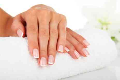 The Wax Bar - Mani or Pedi or Mani Pedi Plus Eyebrow Tint - Save 52%