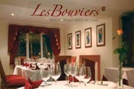 Les Bouviers Restaurant - One 5* Night For Two With Two Course Meal and Champagne - Save 0%