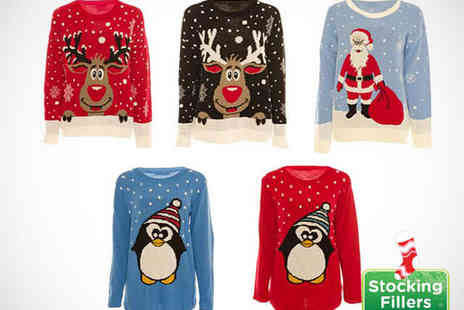 IKRUSH - Ladies Christmas Jumper with Choice of Design - Save 72%