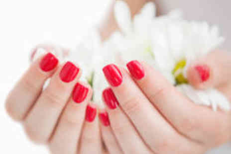 Cyan BeautyStudios - Deluxe Gellux or Shellac Manicure and Sparkling Wine - Save 74%