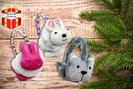 Shuperb Footwear - Choice of cute animal earmuffs - Save 75%