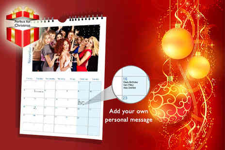 My Print Gifts - A4 Personalised calendar - Save 67%
