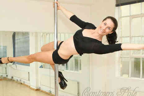Contours Pole - Four Beginners Pole Dancing Classes - Save 75%