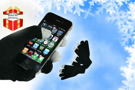 Case City - Pair of touchscreen gloves - Save 53%