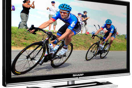 Harry B Litherland & Co Limited - Sharp 22 inch HD Ready TV, Black glass & Aluminium shelf and 2x HDMI cables  - Save 45%