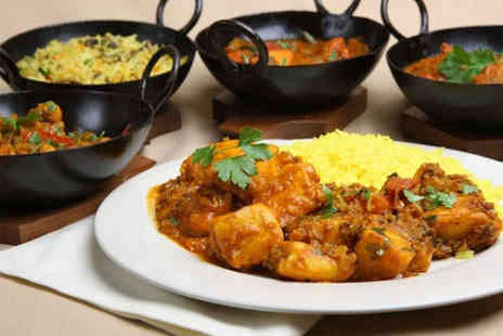 Masala - Three course Indian meal for 2 including side & glass of wine - Save 57%