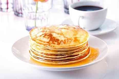 JJs American Diner - Pancakes or Waffles With Coffee - Save 50%