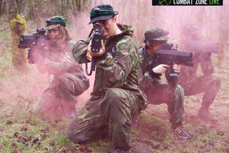 Combat Zone Live - Infrared Laser Outdoor Combat Game for One - Save 50%