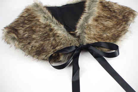 My Avarice - Faux Fur Wrap Collar - Save 60%