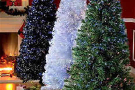 online4furniture - LED Christmas Tree Black Green or White 4FT 5FT or 6FT - Save 69%