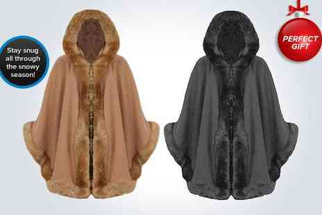 Kiss Couture - One camel faux fur hooded cape - Save 51%