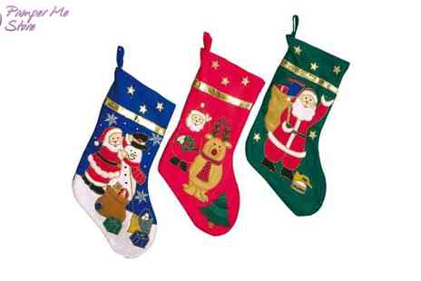 Sterling Distribution - Choice of 3 Christmas Stockings - Save 43%