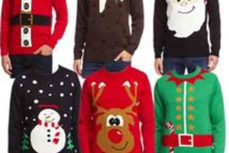 babz - Mens Christmas Jumpers - Save 37%