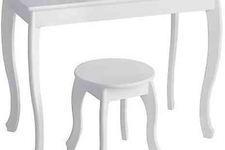 argos - Ashley Dressing Table And Stool  White - Save 33%